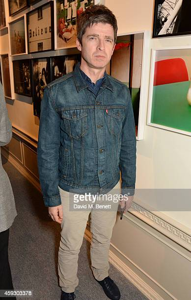 Noel Gallagher attends the book launch and private view of 'Mary McCartney Monochrome And Colour' curated by De Pury De Pury on November 20 2014 in...