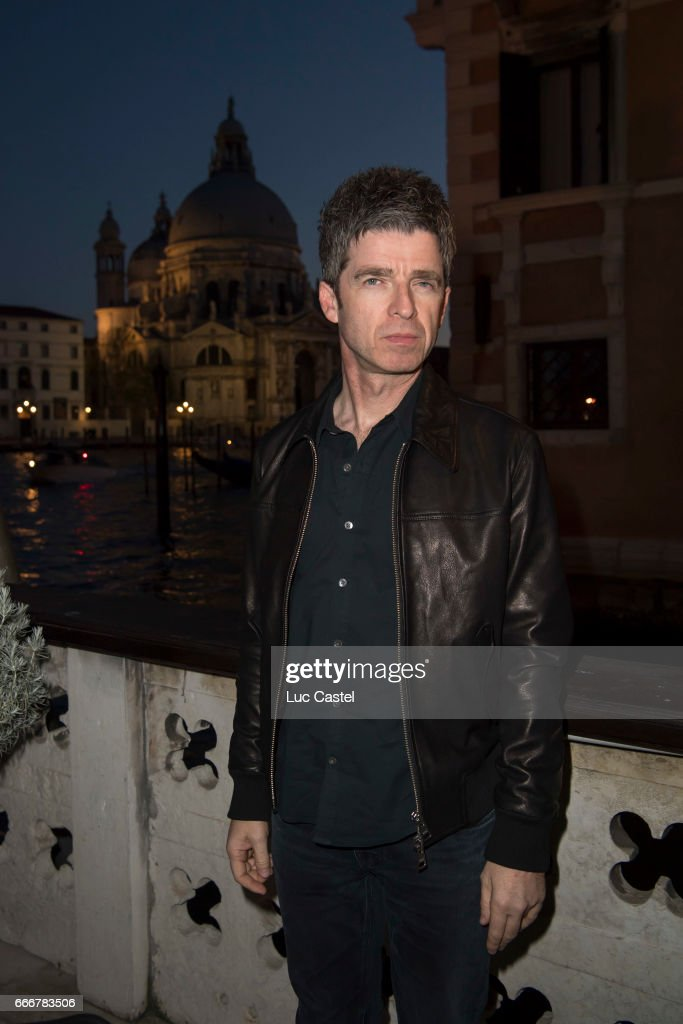 Noel Gallagher attends the opening of Damien Hirst 'Treasures From The Wreck Of The Unbelievable' new exhibition on April 8, 2017 in Venice, Italy.