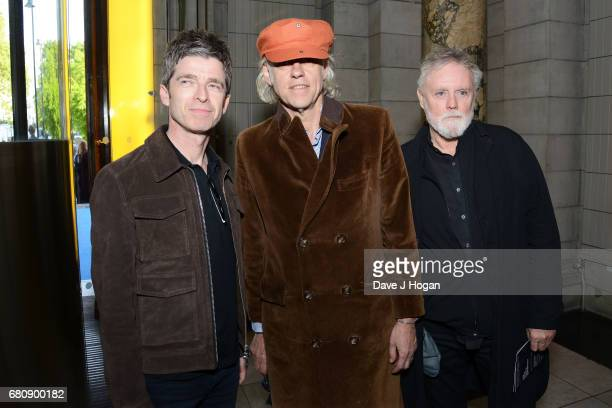 Noel Gallagher Bob Geldof and Roger Taylor attend The Pink Floyd Exhibition 'Their Mortal Remains' private view at The VA on May 9 2017 in London...