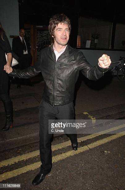 Noel Gallagher during Noel Gallagher Sighting at Nobu and Groucho Club October 19 2006 in London Great Britain