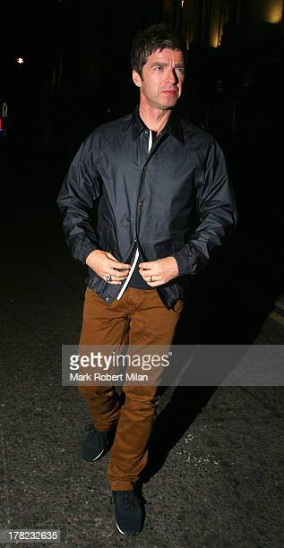 Noel Gallagher leaves the Groucho club on August 27 2013 in London England