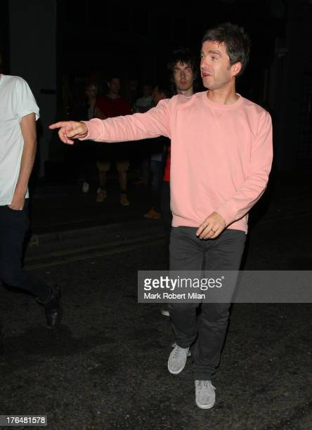 Noel Gallagher leaving the Groucho club on August 13 2013 in London England