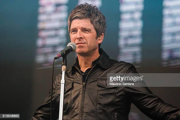 Noel Gallagher of Noel Gallaghers High Flying Birds at Autodromo de Interlagos on March 13 2016 in Sao Paulo Brazil