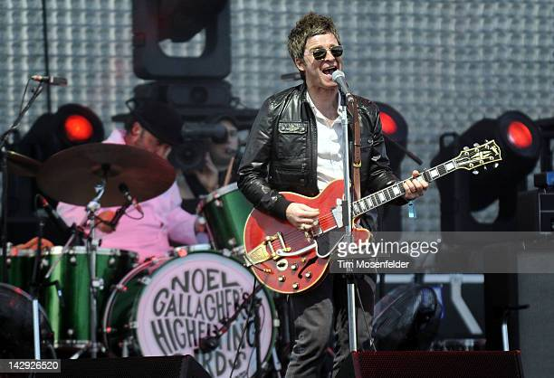 Noel Gallagher of Noel Gallagher's High Flying Birds performs as part of Day 2 of the 2012 Coachella Valley Music Arts Festival at the Empire Polo...