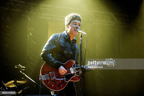 Noel Gallagher of Noel Gallagher's High Flying Birds performs as part of the Clyde 1 Live event at The SSE Hydro on December 8 2015 in Glasgow...