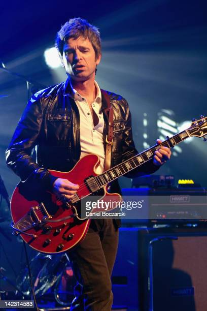 Noel Gallagher of Noel Gallagher's High Flying Birds performs at Riviera Theatre on April 1 2012 in Chicago Illinois