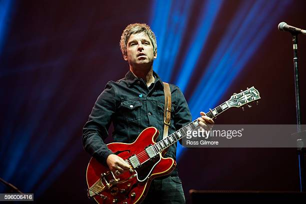 Noel Gallagher of Noel Gallagher's High Flying Birds performs at Bellahouston Park on August 26 2016 in Glasgow Scotland