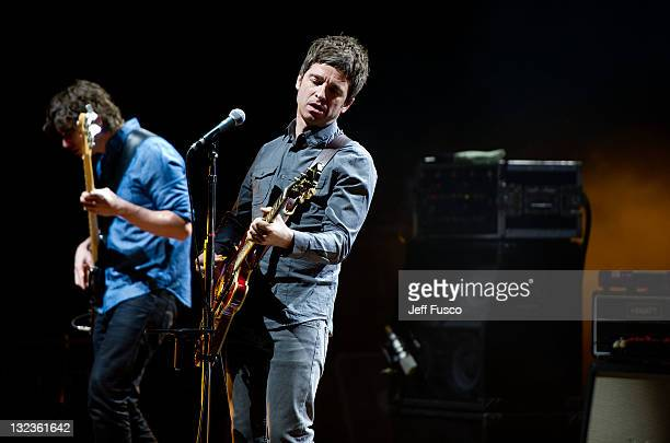 Noel Gallagher of Noel Gallagher's High Flying Birds performs at the Academy of Music November 11 2011 in Philadelphia Pennsylvania