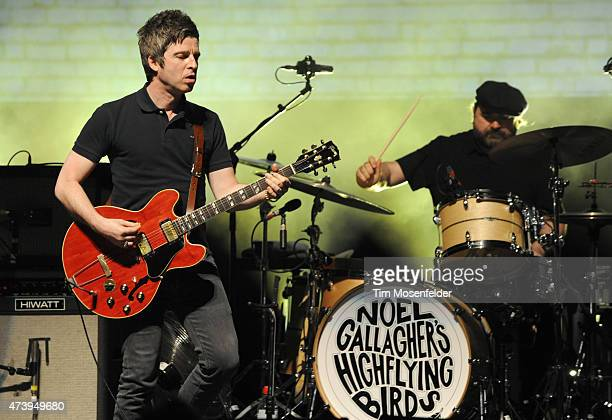 Noel Gallagher of Noel Gallagher's High Flying Birds performs in support of his 'Chasing Yesterday' release at The Warfield Theater on May 18 2015 in...