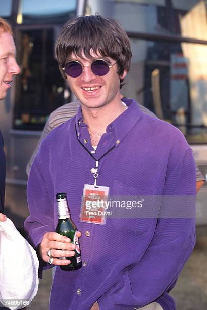 Noel Gallagher of Oasis at the V96 festival at the Oasis Archive Images at in London