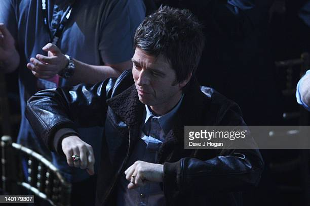 Noel Gallagher onstage at the NME Awards 2012 at Brixton Academy on February 29 2012 in London England