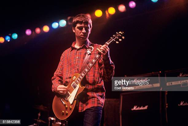 Noel Gallagher performing with Oasis at The Academy in New York City on March 8 1995