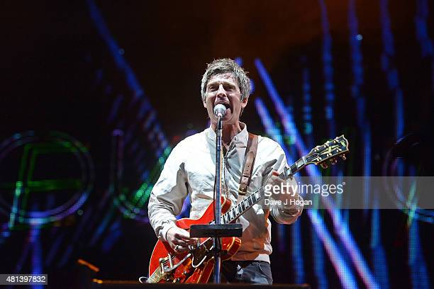 Noel Gallagher performs on day 4 of Latitude Festival at Henham Park Estate on July 19 2015 in Southwold England