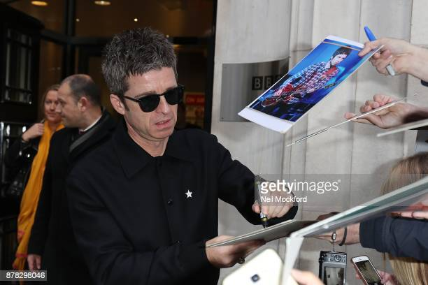 Noel Gallagher seen at BBC Radio 2 on November 24 2017 in London England