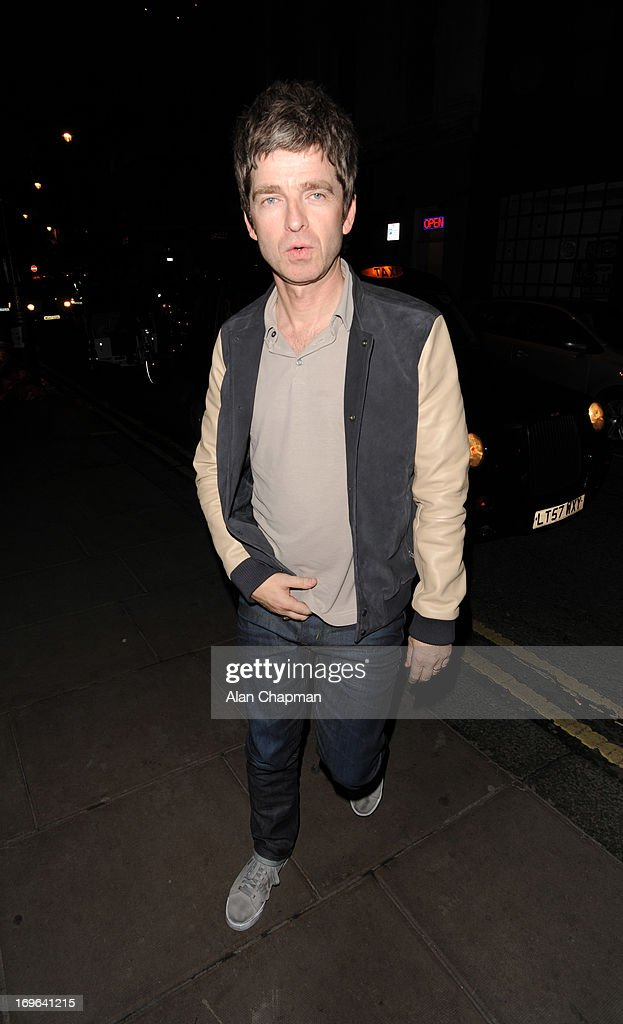 Noel Gallagher sighting arriving at The Groucho Club Dean Street Soho on May 29, 2013 in London, England.
