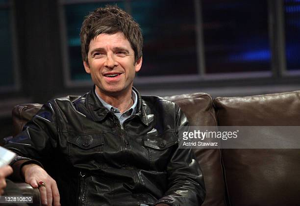 Noel Gallagher stops by Fuse's 'Hoppus on Music' for an interview with host Mark Hoppus on November 14 2011 in New York City