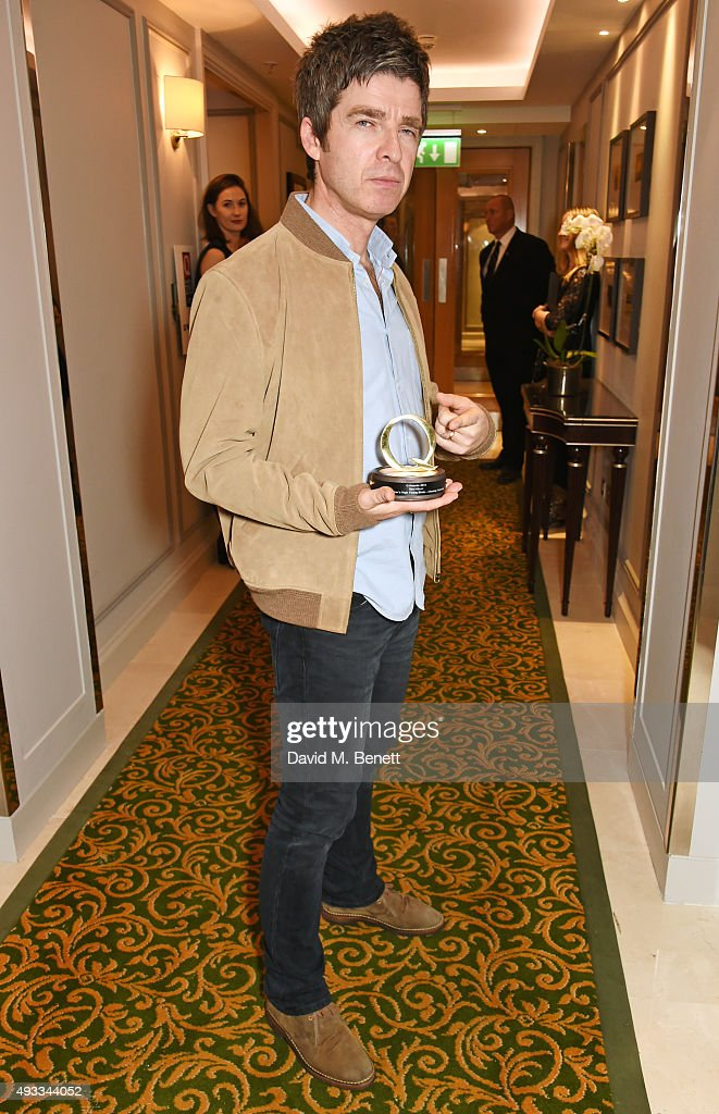 Noel Gallagher winner of the Best Album Award for 'Chasing Yesterday' by Noel Gallagher's High Flying Birds poses at The Q Awards at The Grosvenor...