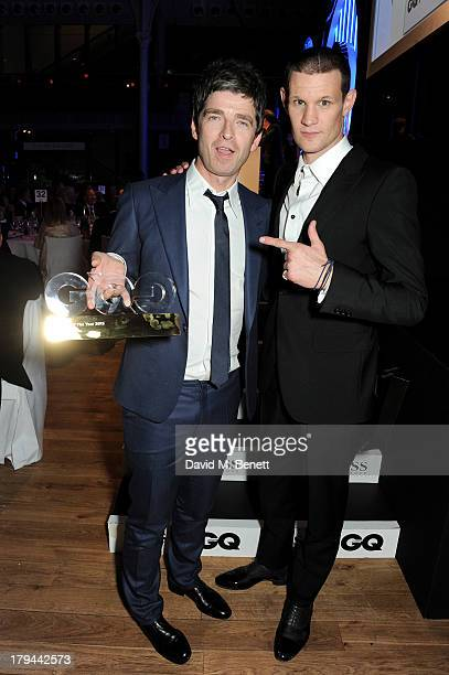 Noel Gallagher winner of the Icon Award and Matt Smith attend the GQ Men of the Year awards at The Royal Opera House on September 3 2013 in London...