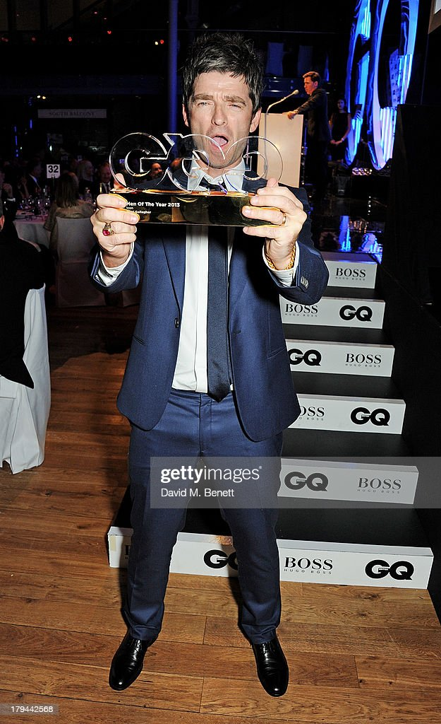 <a gi-track='captionPersonalityLinkClicked' href=/galleries/search?phrase=Noel+Gallagher&family=editorial&specificpeople=209146 ng-click='$event.stopPropagation()'>Noel Gallagher</a>, winner of the Icon award, attends the GQ Men of the Year awards at The Royal Opera House on September 3, 2013 in London, England.