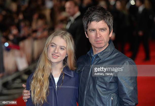 Noel Gallagher with his daughter Anais attend the 'Burnt' European premiere at the Vue West End on October 28 2015 in London England