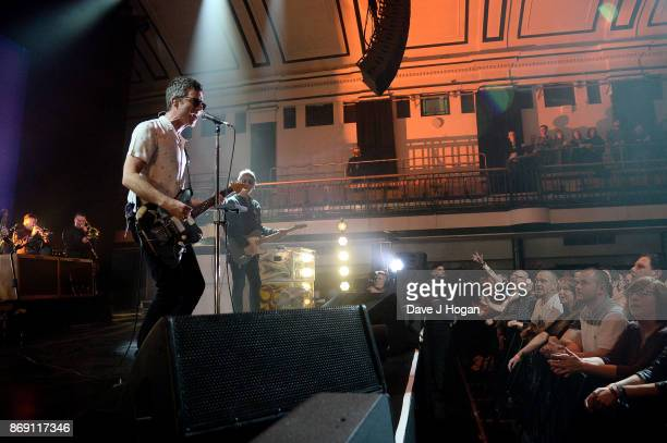Noel Gallagher's High Flying Birds perform at Apple Music's 'On The Record' filming at York Hall on November 1 2017 in London England