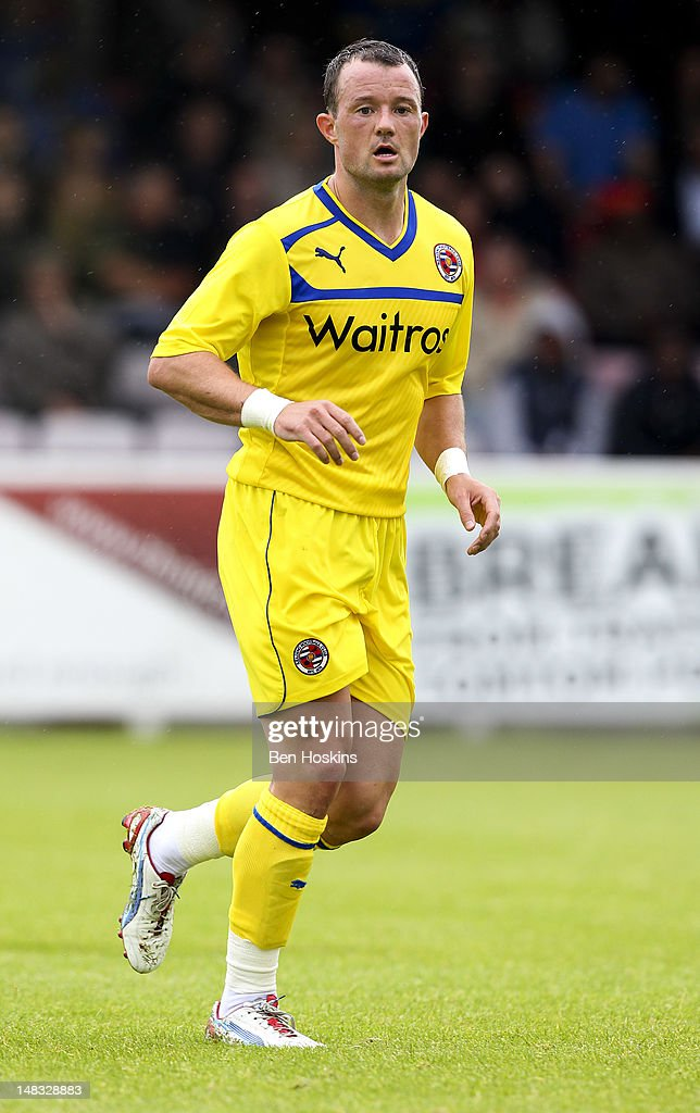 Noel Hunt of Reading in action during a pre season friendly match between AFC Wimbledon and Reading at the Kingsmeadow Stadium on July 14, 2012 in Kingston, England.