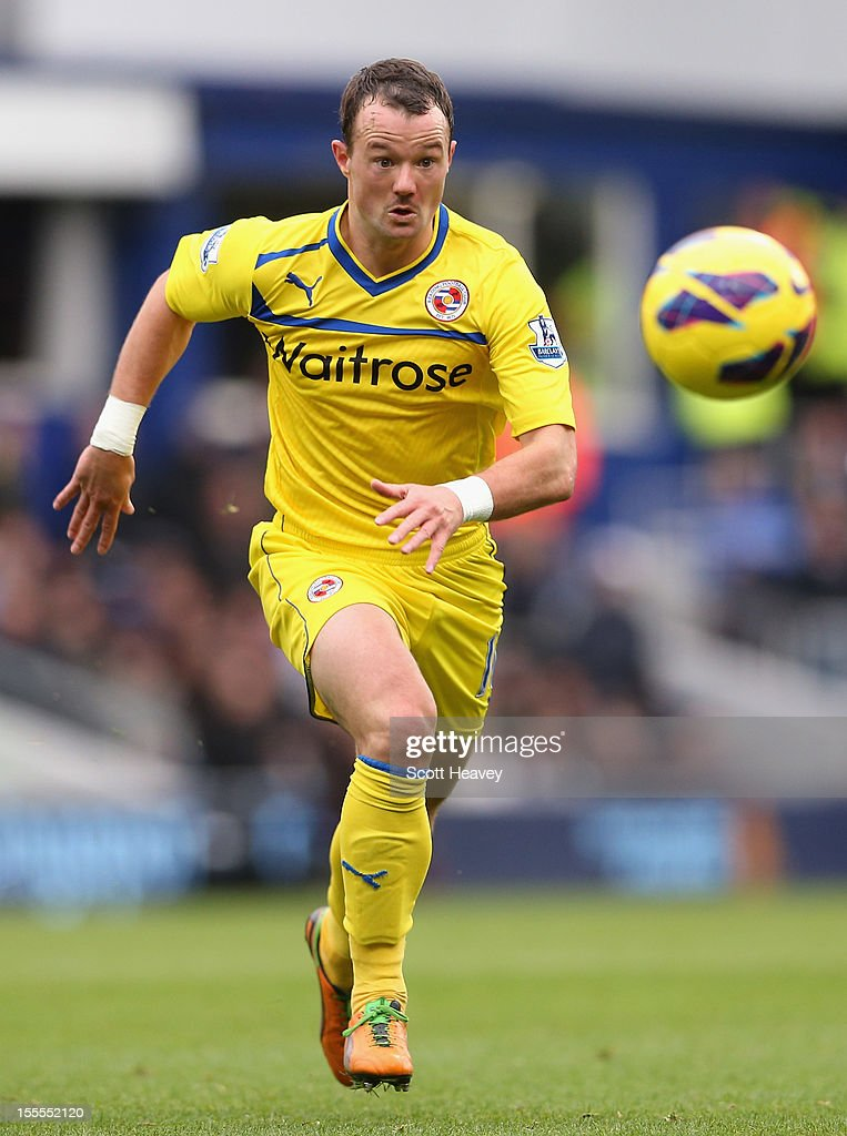 Noel Hunt of Reading in action during the Barclays Premier League match between Queens Park Rangers and Reading at Loftus Road on November 4, 2012 in London, England.