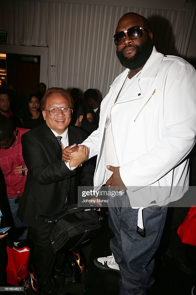 Noel Lee and Rick Ross attend House Of Hype Monster Grammy Party at House Of Hype on February 10, 2013 in Los Angeles, California.