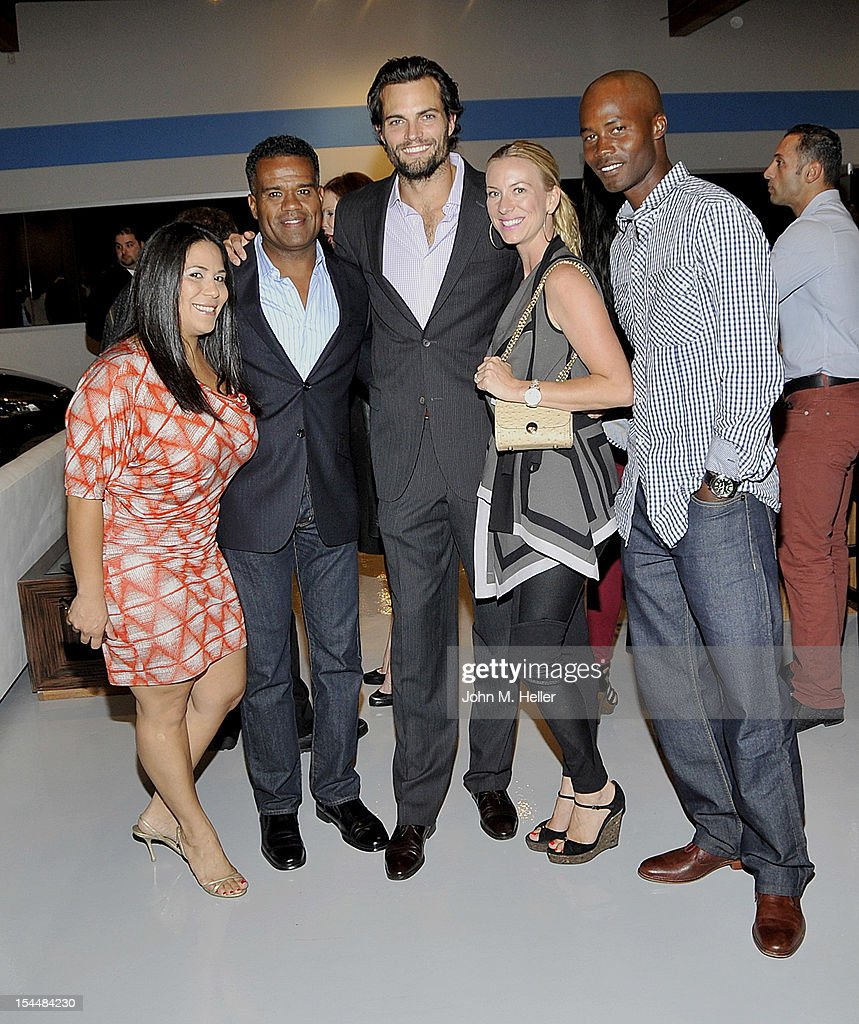 Noel Monares, Lamar Joichin actor Scott Elrod, Casandra Walker and Jerald Mathews attend the opening of AutoConcierge on October 4, 2012 in Los Angeles, California.