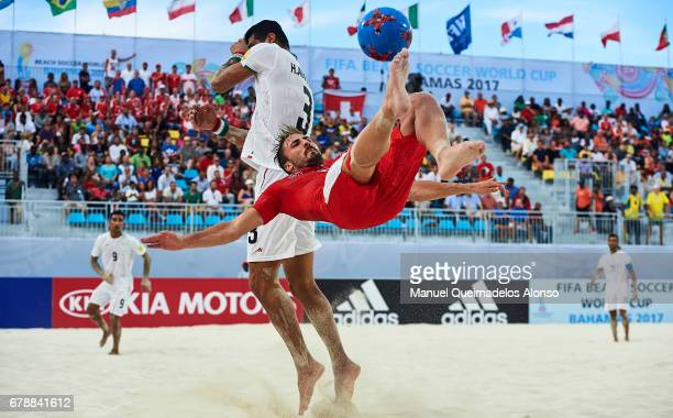 Noel Ott of Switzerland in action during the FIFA Beach Soccer World Cup Bahamas 2017 quarter final match between Switzerland and Iran at National...