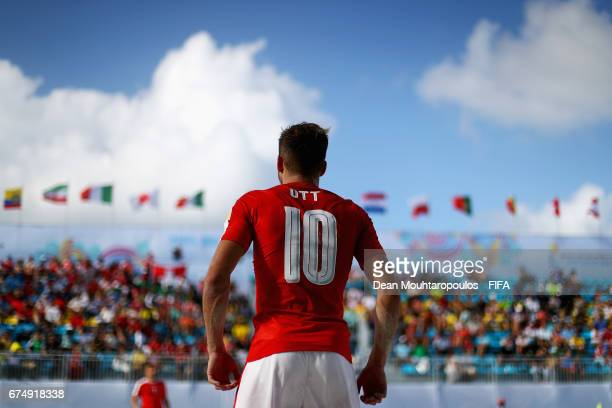 Noel Ott of Switzerland looks on during the FIFA Beach Soccer World Cup Bahamas 2017 group A match between Switzerland and Ecuador at National Beach...