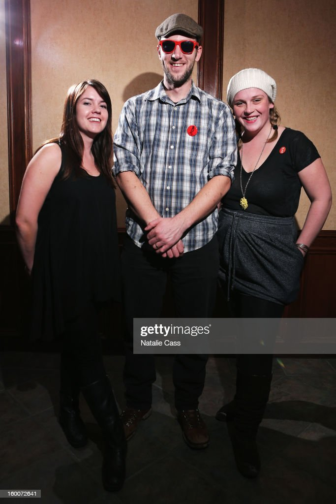Noel Sandberg, Ryan Cron and Erin Haley of Bullets and Belles attend the ASCAP Music Cafe Day 8 during the 2013 Sundance Film Festival at Sundance ASCAP Music Cafe on January 25, 2013 in Park City, Utah.