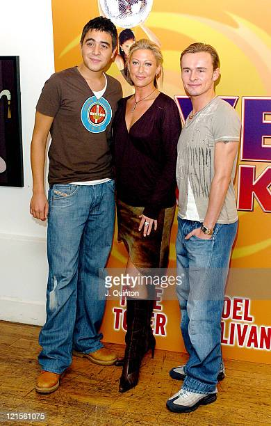 Noel Sullivan Faye Tozer and Jon Lee during 'Love Shack' the Musical Photocall at No 9 Adam Street in London Great Britain