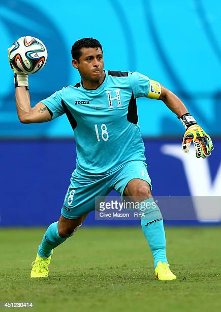 Noel Valladares of Honduras in action during the 2014 FIFA World Cup Brazil Group E match between Honduras and Switzerland at Arena Amazonia on June...