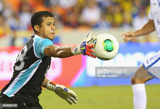 Noel Valladares of Honduras makes a save against Ecuador during an international friendly match at BBVA Compass Stadium on November 19 2013 in...