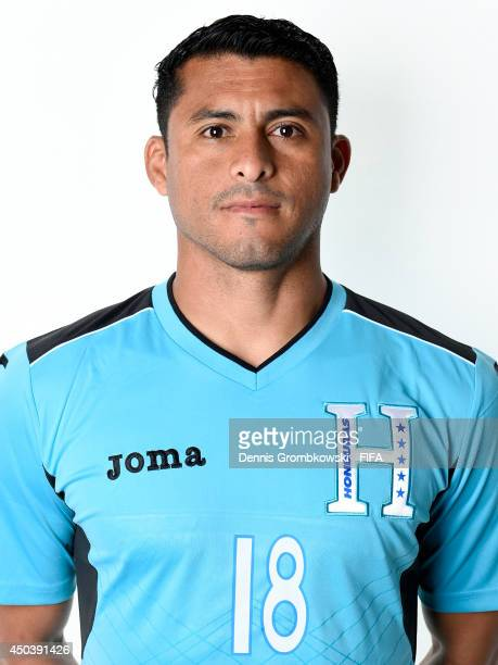 Noel Valladares of Honduras poses during the Official FIFA World Cup 2014 portrait session on June 10 2014 in Porto Feliz Brazil