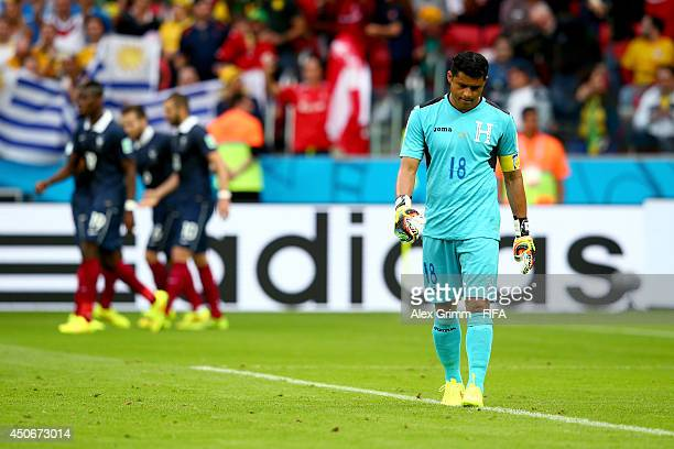 Noel Valladares of Honduras shows his dejection during the 2014 FIFA World Cup Brazil Group E match between France and Honduras at Estadio BeiraRio...