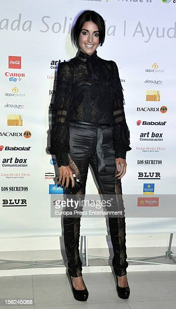 Noelia Lopez attends a charity dinner to raise funds for El Chad on November 8 2012 in Madrid Spain