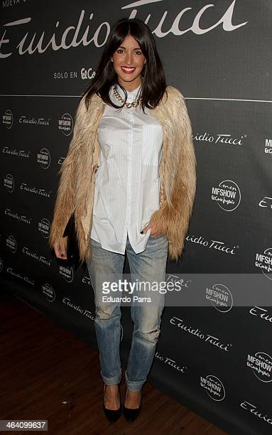 Noelia Lopez attends Emidio Tucci new collection photocall at Calderon theatre on January 20 2014 in Madrid Spain