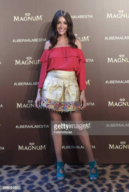 Noelia Lopez attends the Magnum new campaign presentation party at the Palacete de Fortuny on June 14 2017 in Madrid Spain