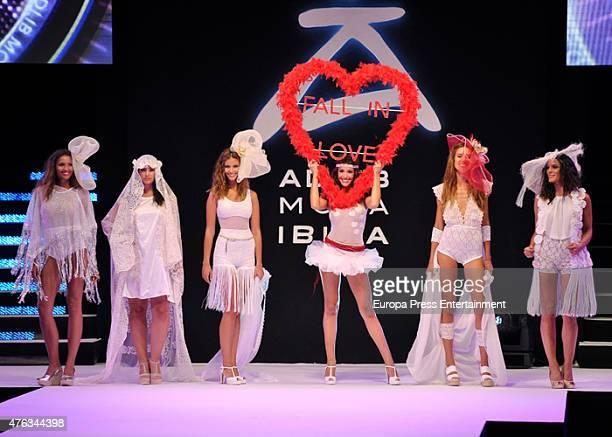 Noelia Lopez Desire Cordero and Veronica Hidalgo walk the runway during Adlib Fashion Show on June 6 2015 in Ibiza Spain