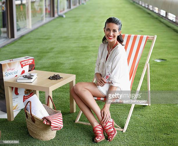 Noelia Lopez poses during 'Special K' bathing suits collection presentation at Coam building on May 8 2013 in Madrid Spain