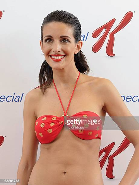 Noelia Lopez presents 'Special K' bathing suits collection at the COAM on May 8 2013 in Madrid Spain