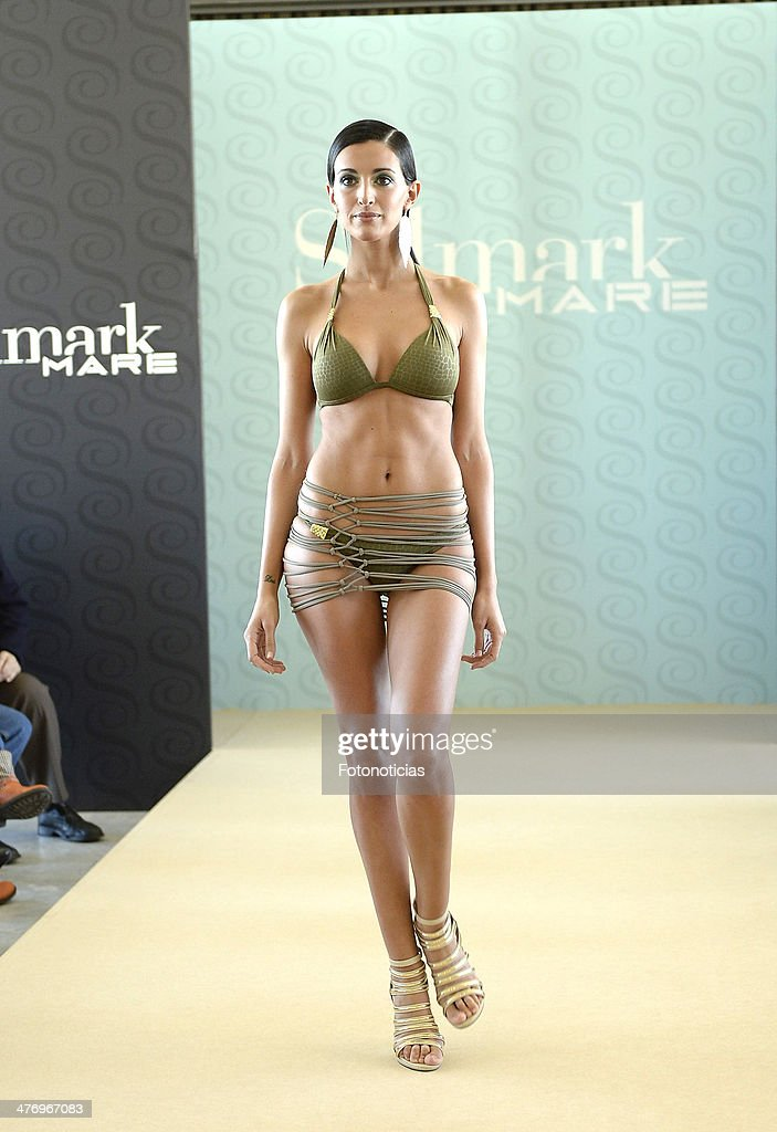 <a gi-track='captionPersonalityLinkClicked' href=/galleries/search?phrase=Noelia+Lopez&family=editorial&specificpeople=2416580 ng-click='$event.stopPropagation()'>Noelia Lopez</a> presents the new Selmark swimwear collection at Circulo de Bellas Artes on March 6, 2014 in Madrid, Spain.
