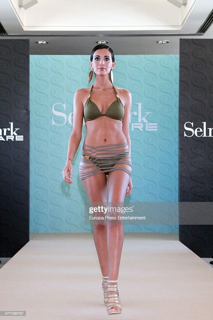 Noelia Lopez presents the new Selmark swimwear collection at Circulo de Bellas Artes on March 6 2014 in Madrid Spain