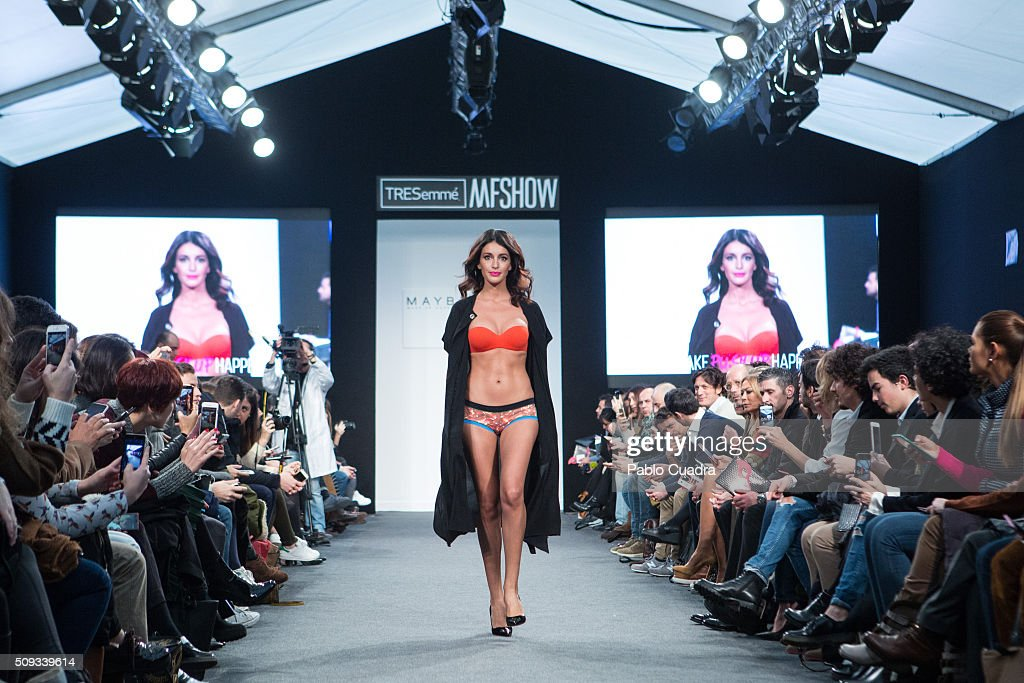 Noelia Lopez walks the runway at the Maybelline NY BloomersBikini Fashion Show during MFShow on February 10 2016 in Madrid Spain