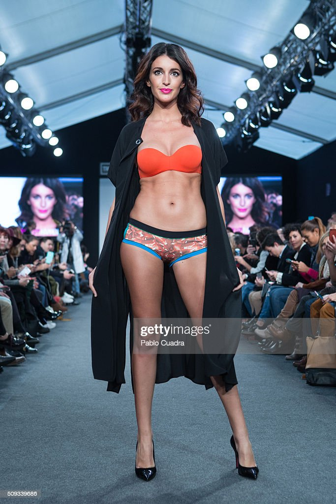 <a gi-track='captionPersonalityLinkClicked' href=/galleries/search?phrase=Noelia+Lopez&family=editorial&specificpeople=2416580 ng-click='$event.stopPropagation()'>Noelia Lopez</a> walks the runway at the Maybelline NY & Bloomers&Bikini Fashion Show during MFShow on February 10, 2016 in Madrid, Spain.