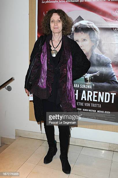 Noelle Chatelet attends 'Hannah Arendt' Premiere at Cinema Majestic Passy on April 23 2013 in Paris France