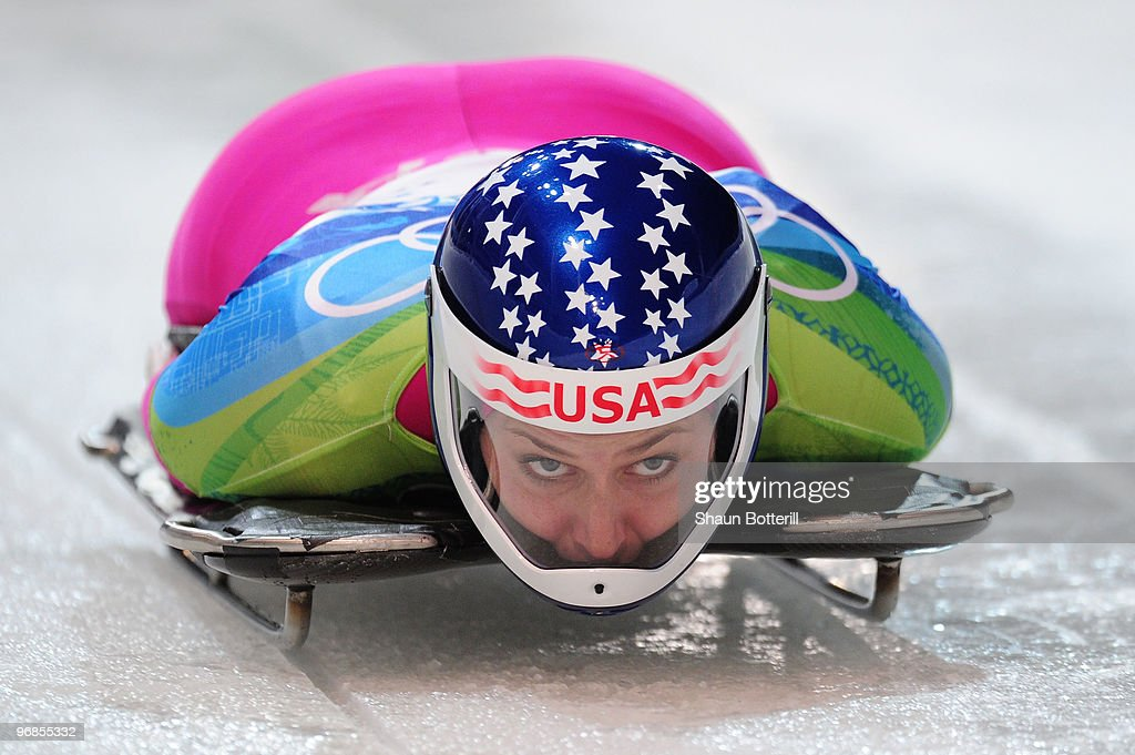 Noelle PikusPace of The United States competes in the women's skeleton run 2 on day 7 of the 2010 Vancouver Winter Olympics at The Whistler Sliding...
