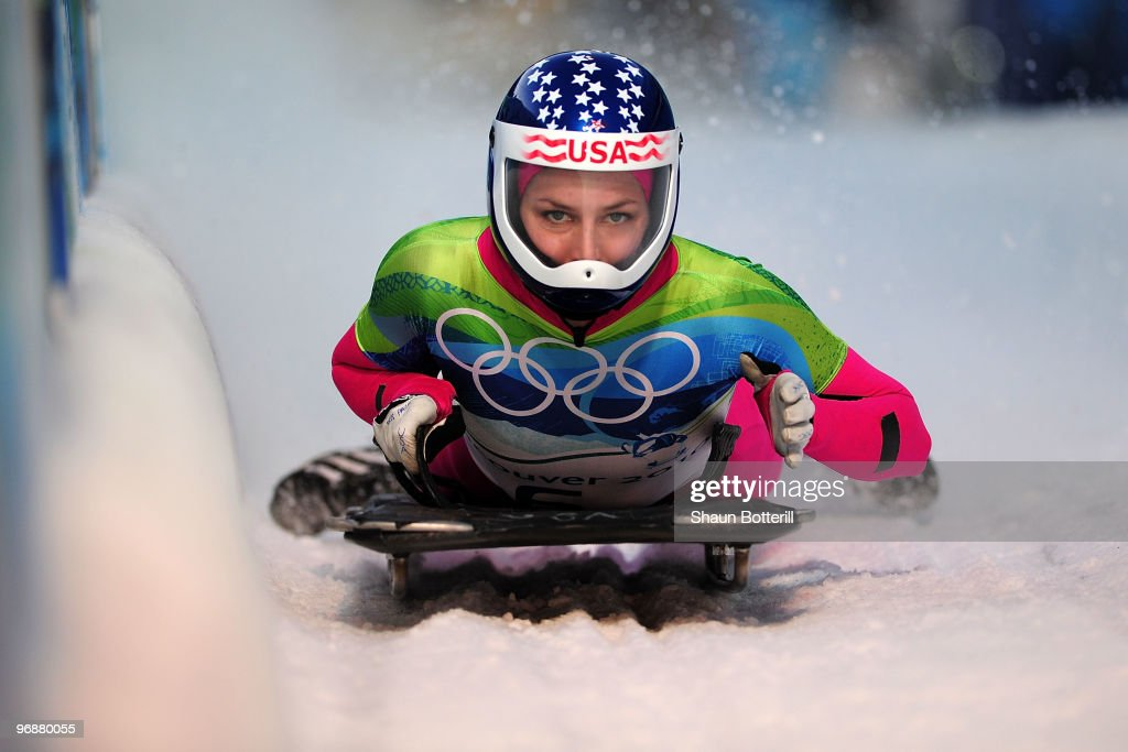 Noelle PikusPace of the United States competes in the women's skeleton fourth heat on day 8 of the 2010 Vancouver Winter Olympics at the Whistler...
